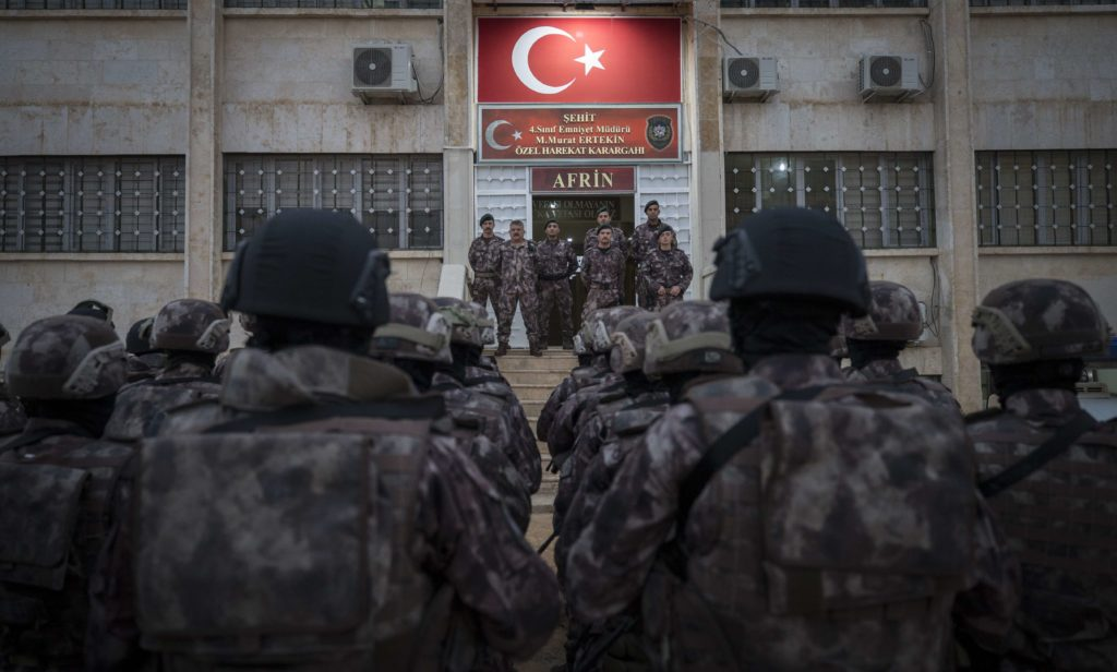Turkish forces in the center of the city of Afrin after taking control over it - November 2018 (Anadolu)