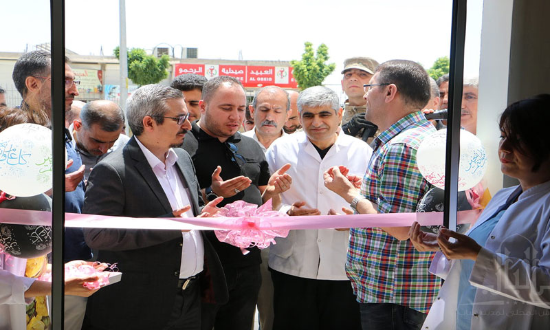Turkish officials launching dialysis department at al-Bab Hospital – June 2, 2019 (Local Council in al-Bab)