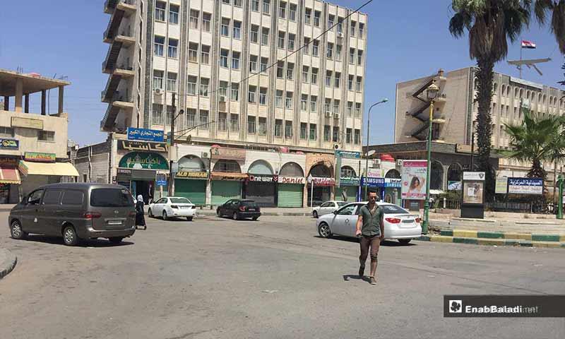 Al-Sair Square in the city of Sweida – July 26, 2018 (Enab Baladi)