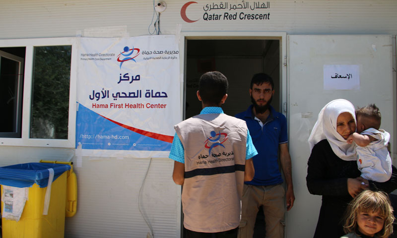 Hama Healthcare Center the first to offer services to IDPs in rural Idlib -June 17, 2019 (Hama Healthcare Directorate)