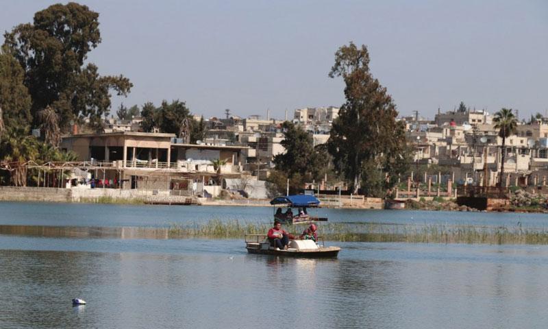 Fishing boat at Lake Muzayrib in 2018 (SY24)