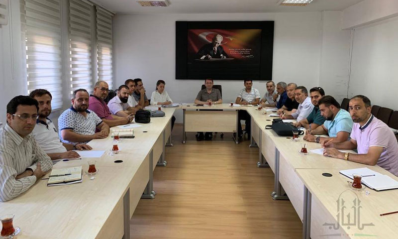 Meeting of the Local Board in al- Bab city with a Turkish delegation- July 27, 2019(the Local Council of al- Bab city)