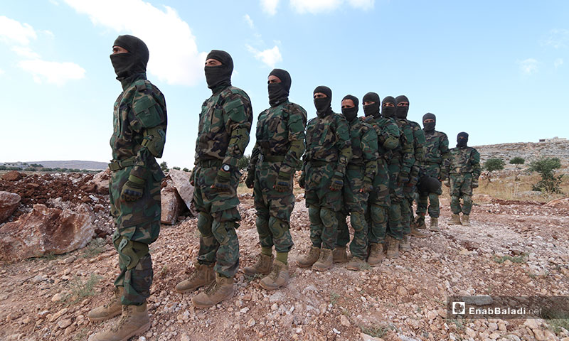 Military training within the Martyr Abdulbaset al-Sarout Camp in Kalbeet on the Syrian-Turkish borders – July 15, 2019 (Enab Baladi)