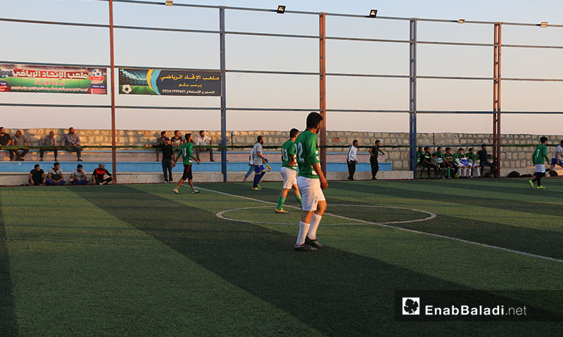 A football tournament in northern and eastern rural Aleppo commemorating martyr Abdulbaset al-Sarout – July 7, 2019 (Enab Baladi)