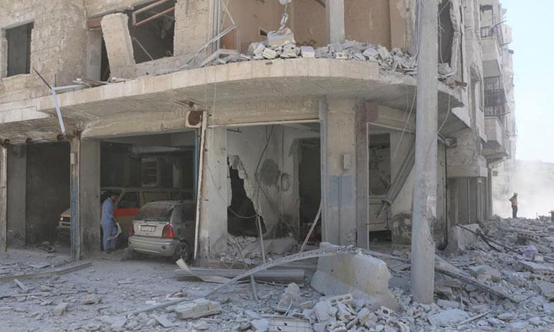 Jisr al-Shugur Hospital left out of services following air raids – July 10, 2019 (The Syrian Civil Defense)