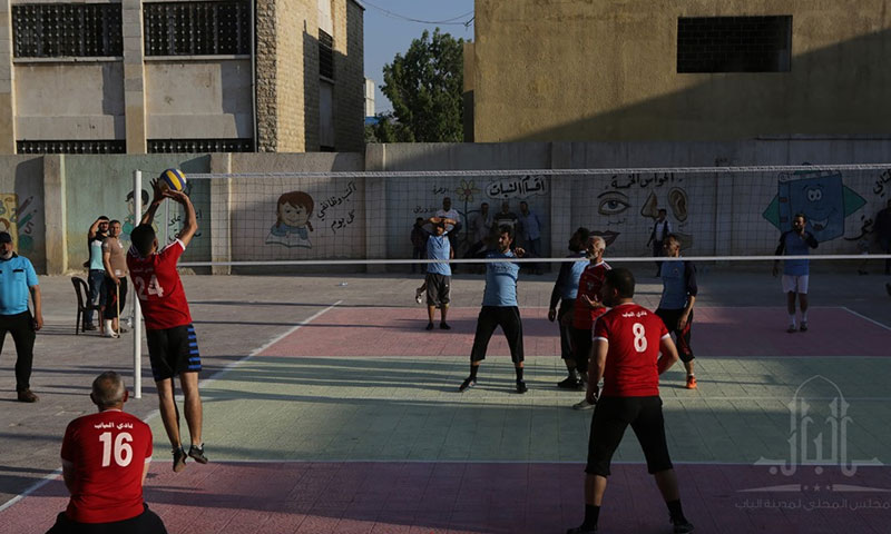 From the volleyball tournament in the city of al-Bab - 17 June 2019 (al-Bab Local Council)