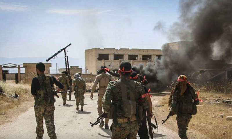 Personnel of the National Front for Liberation on northern rural Hama's fronts – June 8, 2019 (The National Front)