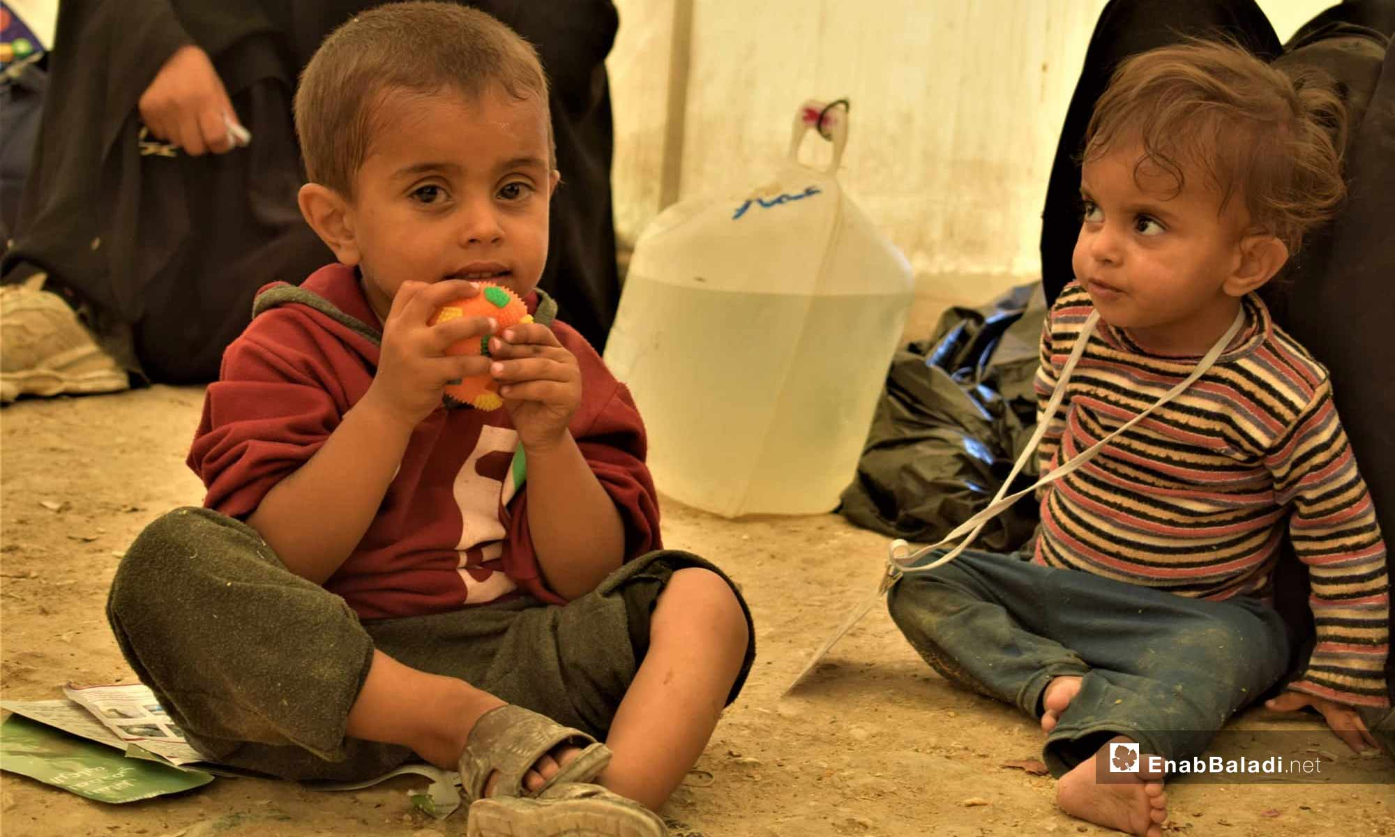 Children at the al-Hawl IDP Camp, east of the Euphrates – July 18, 2019 (Enab Baladi)