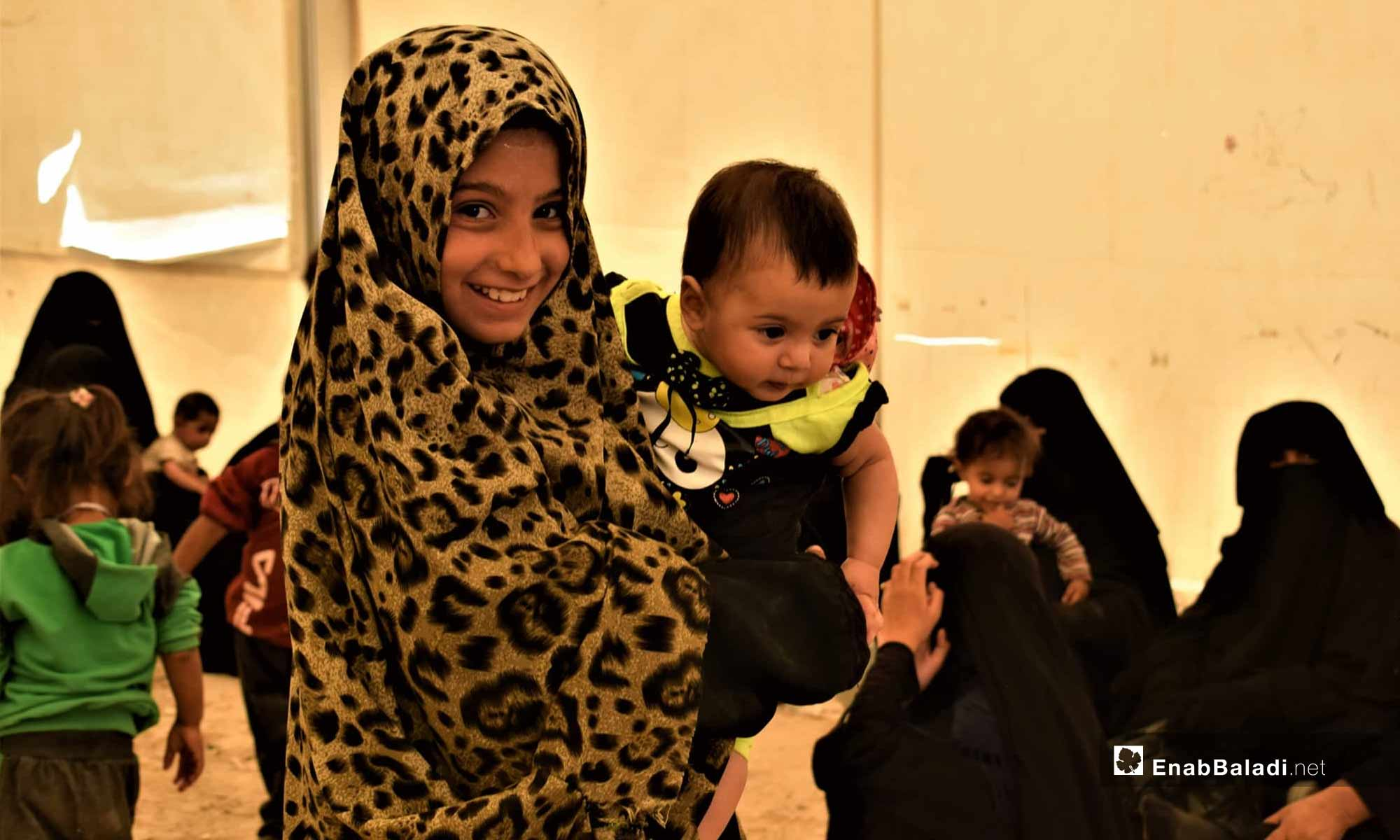 Child at the al-Hawl IDP Camp, east of the Euphrates – July 18, 2019 (Enab Baladi)
