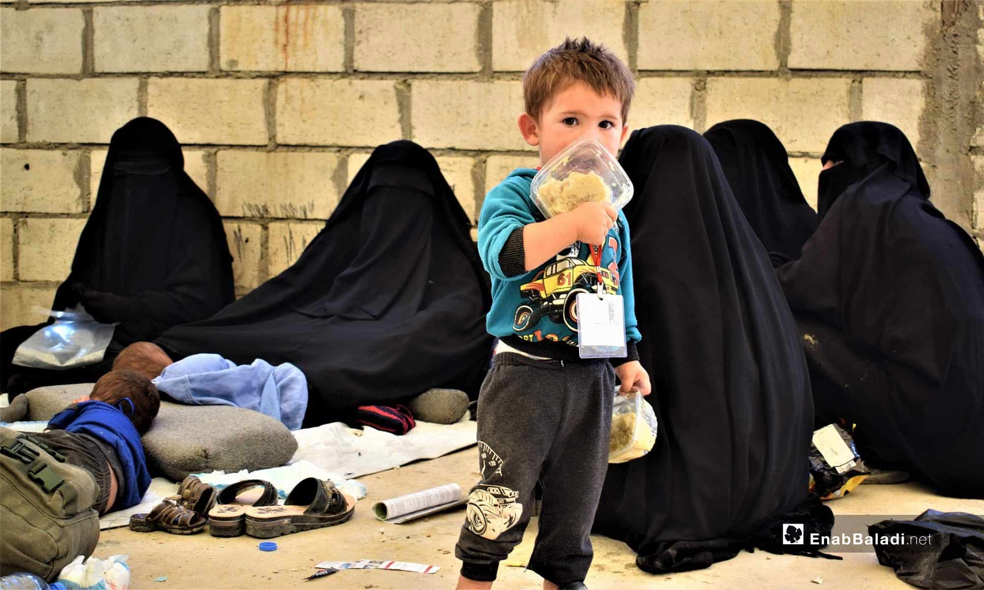 Families at the al-Hawl IDP Camp, east of the Euphrates – July 18, 2019 (Enab Baladi)