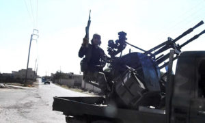 An IS fighter during the confrontations in al-Yarmouk Basin, rural Daraa – July 2018 (Ammaq)
