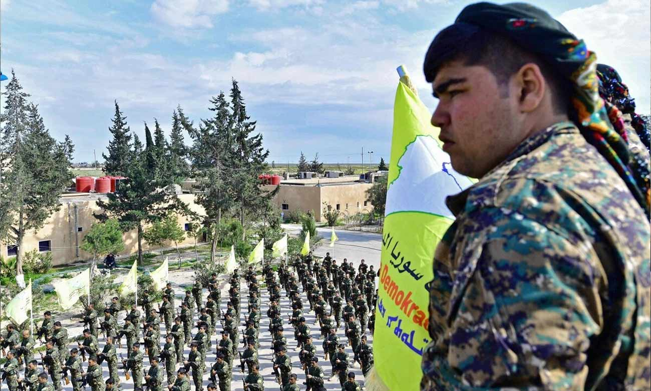 SDF fighter during a funeral of fighters in eastern Syria - March 2019 (AFP)