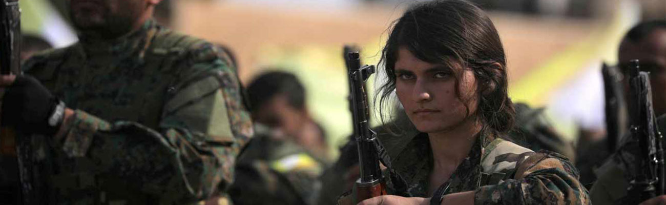 Fighter from the Syrian Democratic Forces (SDF) in a training camp in eastern Syria - (Reuters)