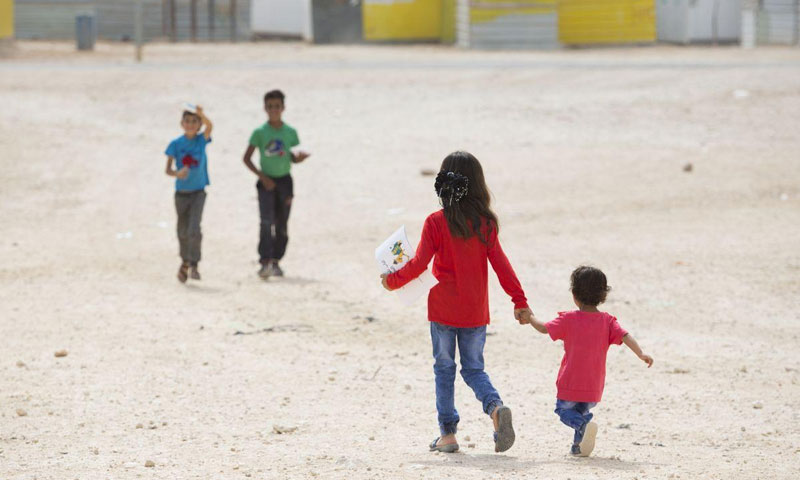 Syrian children in al-Zaatari camp in Jordan - February 2018 (Save the Children Organization)