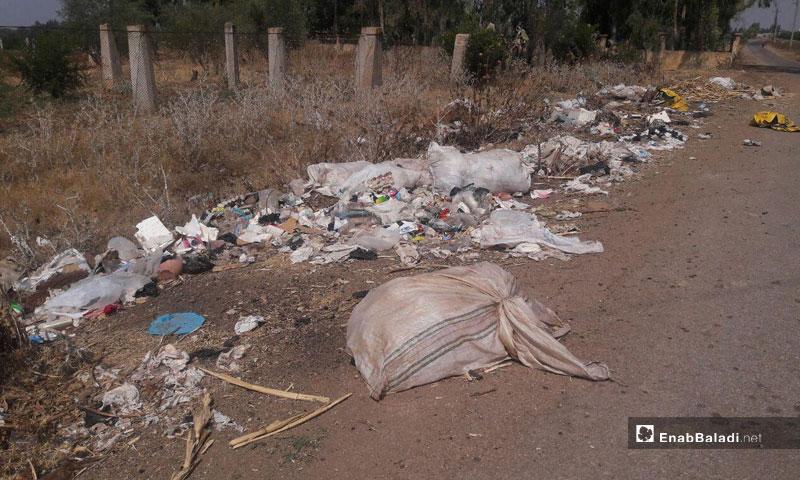 Roadside litter in Tal Shihab, Daraa (Enab Baladi)