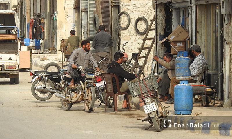 B'zaah city in the northern Aleppo countryside- November 13, 2017( Enab Baladi)