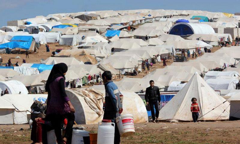Atma Camp for Syrian IDPs in Idlib countryside near the Syrian-Turkish border 2015 (AP)