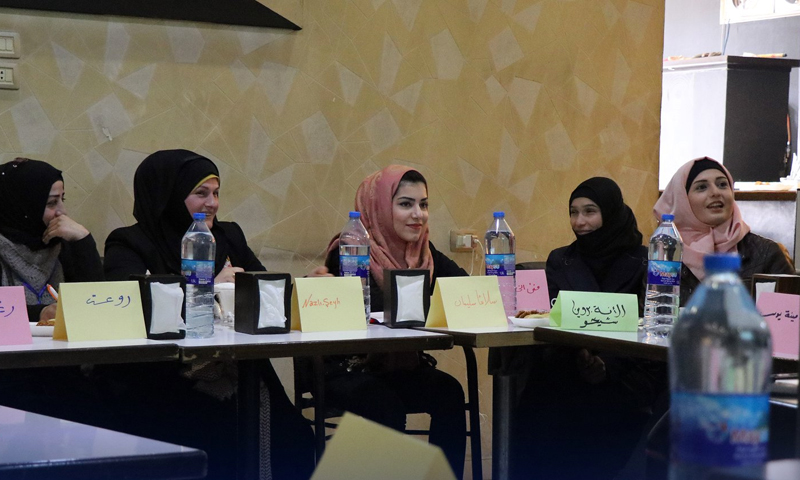 Women's Empowerment and Support Unit conducting a training on conflict management in Afrin city – March 6, 2019 (The Unit's Facebook page)