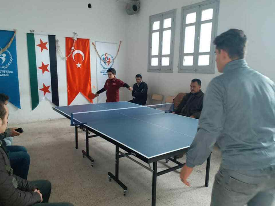 Table tennis match in Azaz, the countryside Aleppo - December 20, 2019 (Azaz Sports Office)