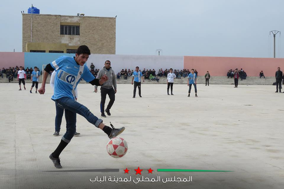 Al-Bohtri High School Football League tournament in al-Bab City - March 12, 2019 (al-Bab Local Council)