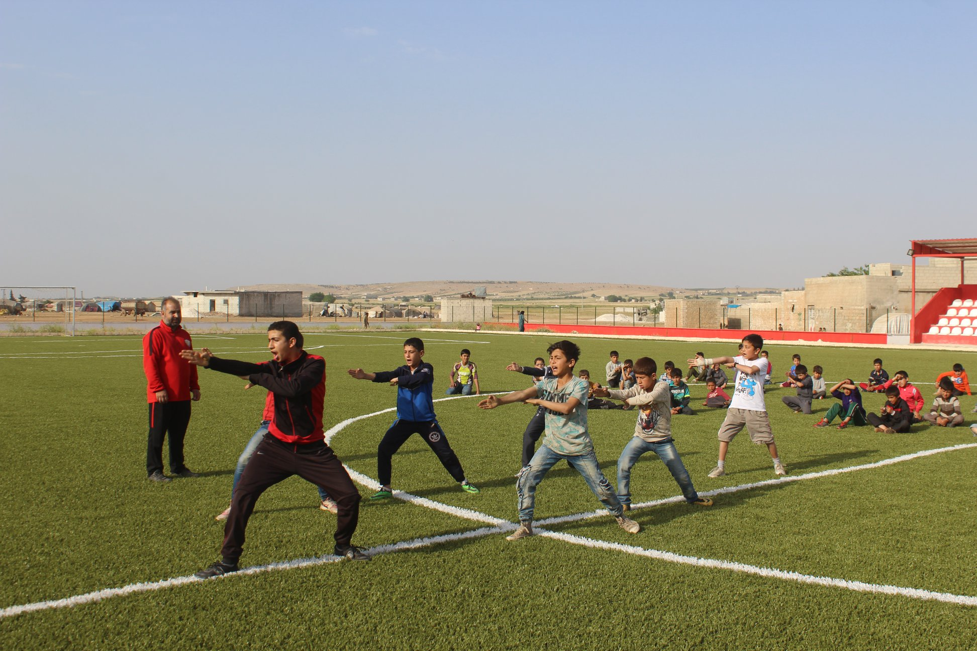 Karate and martial arts trainings for children at Qabasin Stadium - May 19, 2019 (Qabasin Local Council)