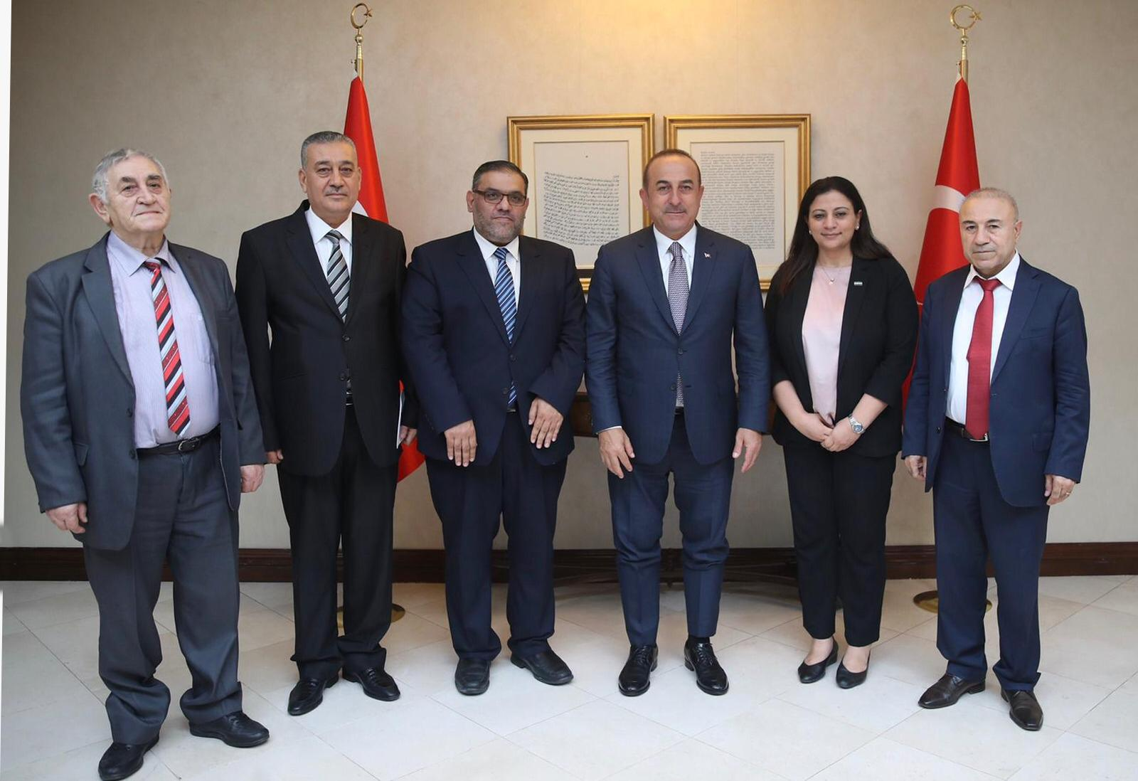 Turkish Foreign Minister, Mevlut Cavusoglu, and President of the Syrian National Coalition, Anas al Abdeh - August 20, 2019 (SNC)