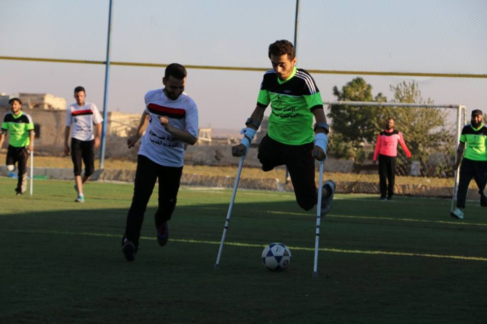 A match for people with special needs in the town of Atarib - September 1, 2019 (Syrian Commission for Sports and Youth)