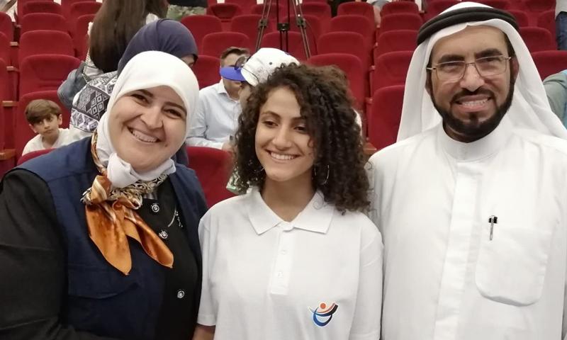 Sukkar and Tariq Suwaidan at the Kunuz Leadership Education Camp in Istanbul 2019
