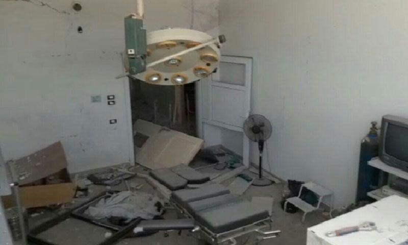 Al-Rahma Hospital in Talmenes town, south of Idlib, after suffering various Russian air raids – August 21, 2019 (Talmenes Media Center)