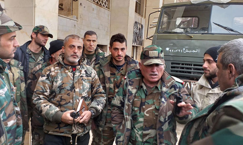 Personnel and officers of the Syrian regime forces – January 2019 (War journalist Mazen Ibrahim)