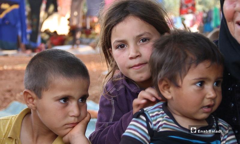 Internally displaced children based in Camp Atmeh at the Turkish border – May 2019 (Enab Baladi)