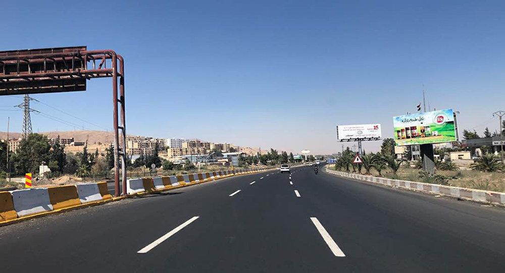 Damascus - Homs Highway after Rehabilitation - (Sputnik)