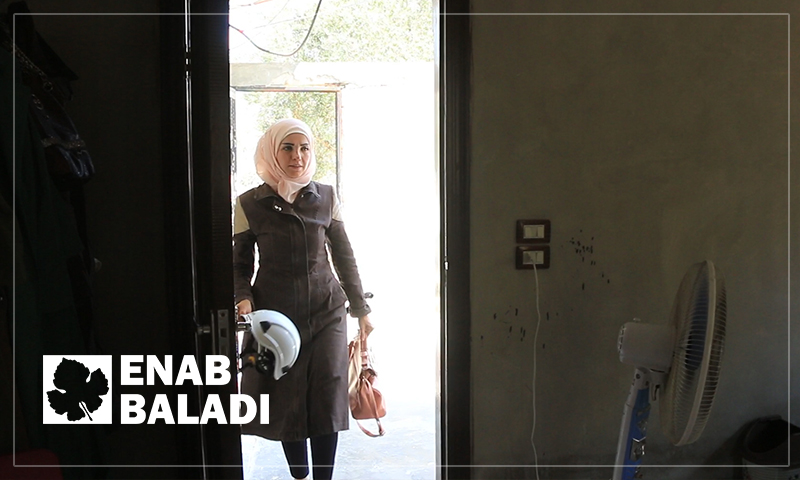 Fatima Aref starting her day at the Women Center of the Civil Defense, rural Latakia – September 7, 2019 (Enab Baladi)