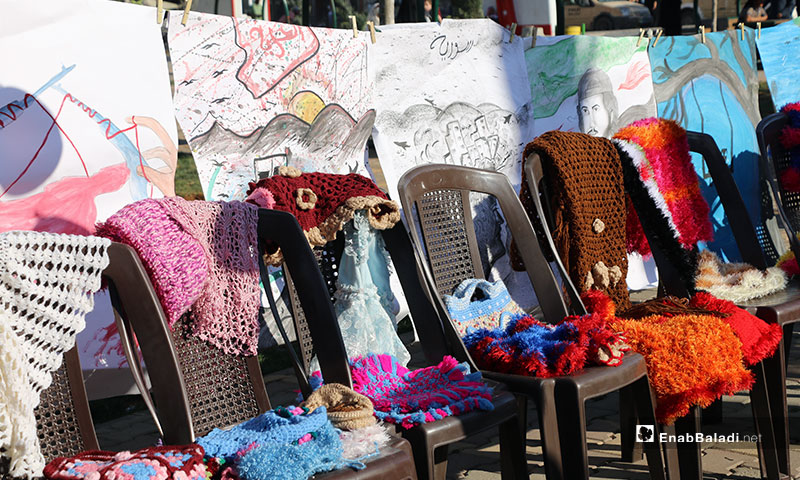 Handicrafts exhibition in the city of al-Bab, east of Aleppo – September 12, 2019 (Enab Baladi)