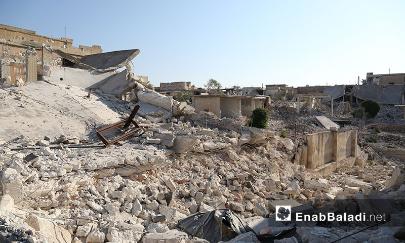 Internally displaced persons return to the villages they escaped undercover of the ceasefire to move furniture from their destroyed houses in southern rural Idlib – September 6, 2019 (Enab Baladi)
