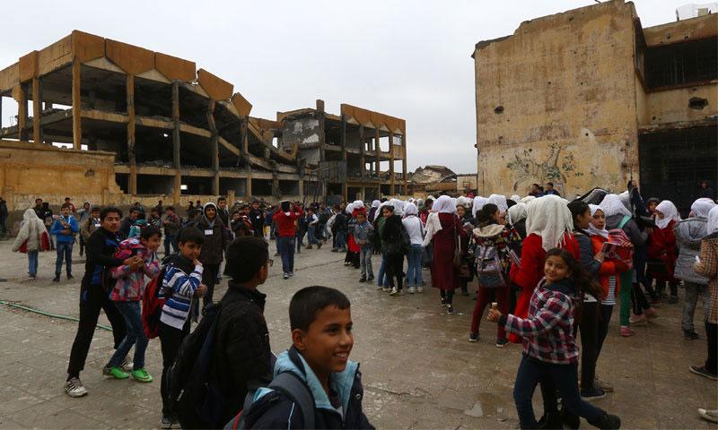 A school in Raqqa - October 5, 2018 (Reuters)