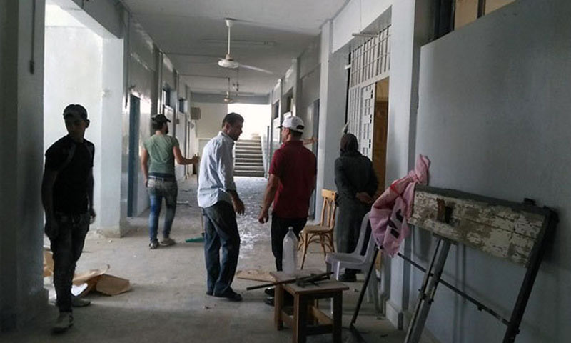 Rehabilitation of a school in the city of Daraa in southern Syria - August 2019 (SANA)
