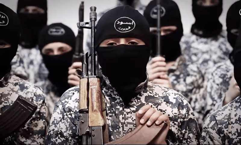 Group of the so-called Ashbal al-Khilafah (Cubs of the Caliphate) in one of ISIS issues (Amaq News Agency)
