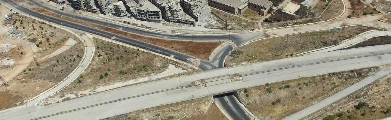 The main gateway road in southwest Aleppo Salahuddin neighborhood - (Sputnik)
