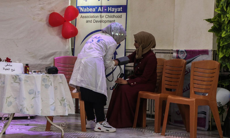 The graduation ceremony of the fourth batch of trainees at the Women Training Center - September 21, 2019 (Nabea' Al-Hayat Association for childhood and development)