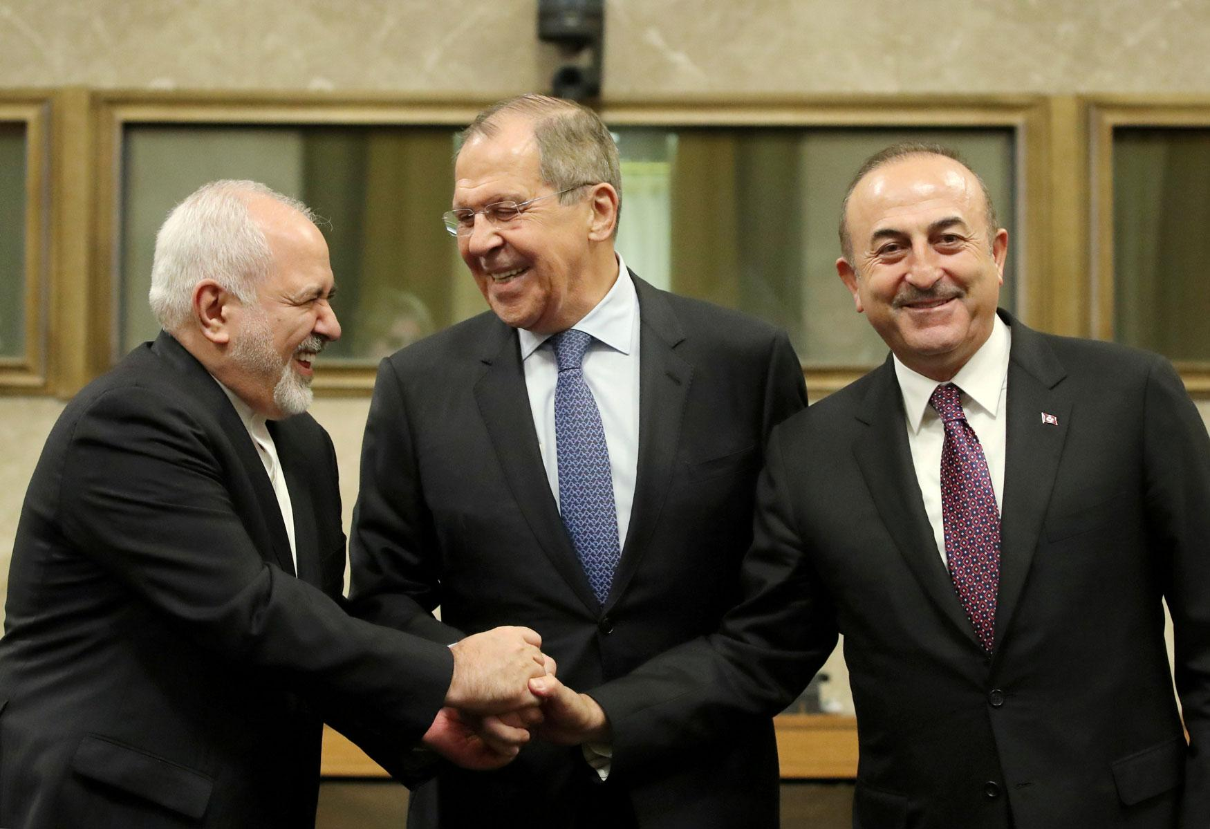Foreign ministers of Russia, Turkey and Iran at the United Nations in Geneva, Switzerland – December 18, 2018 (Photo VCG)