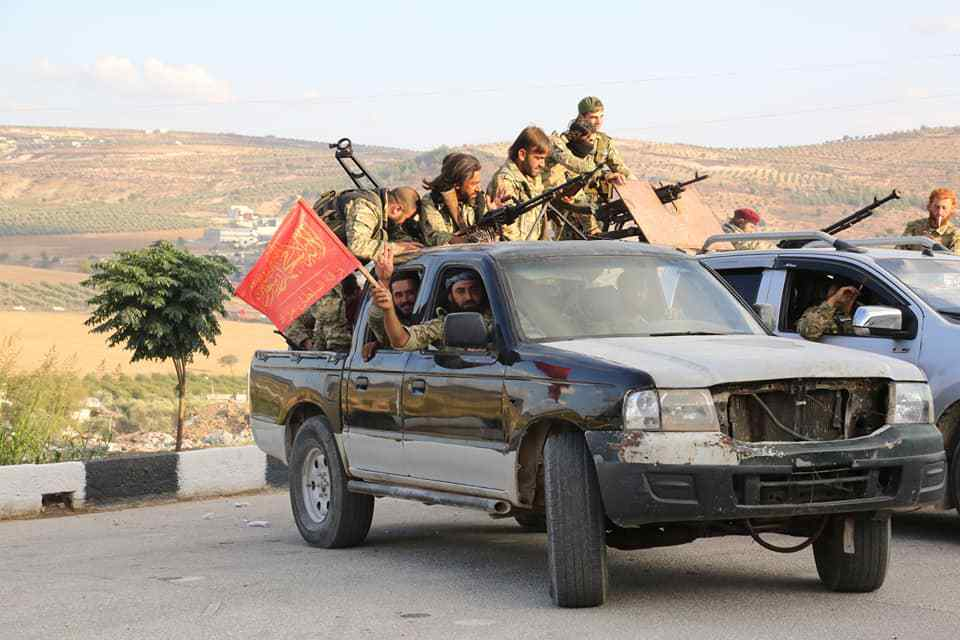Members of the National Army in areas east of the Euphrates – October 12, 2019 (Head of the Media Office of Sultan Murad Division/ Mohammad Noor)