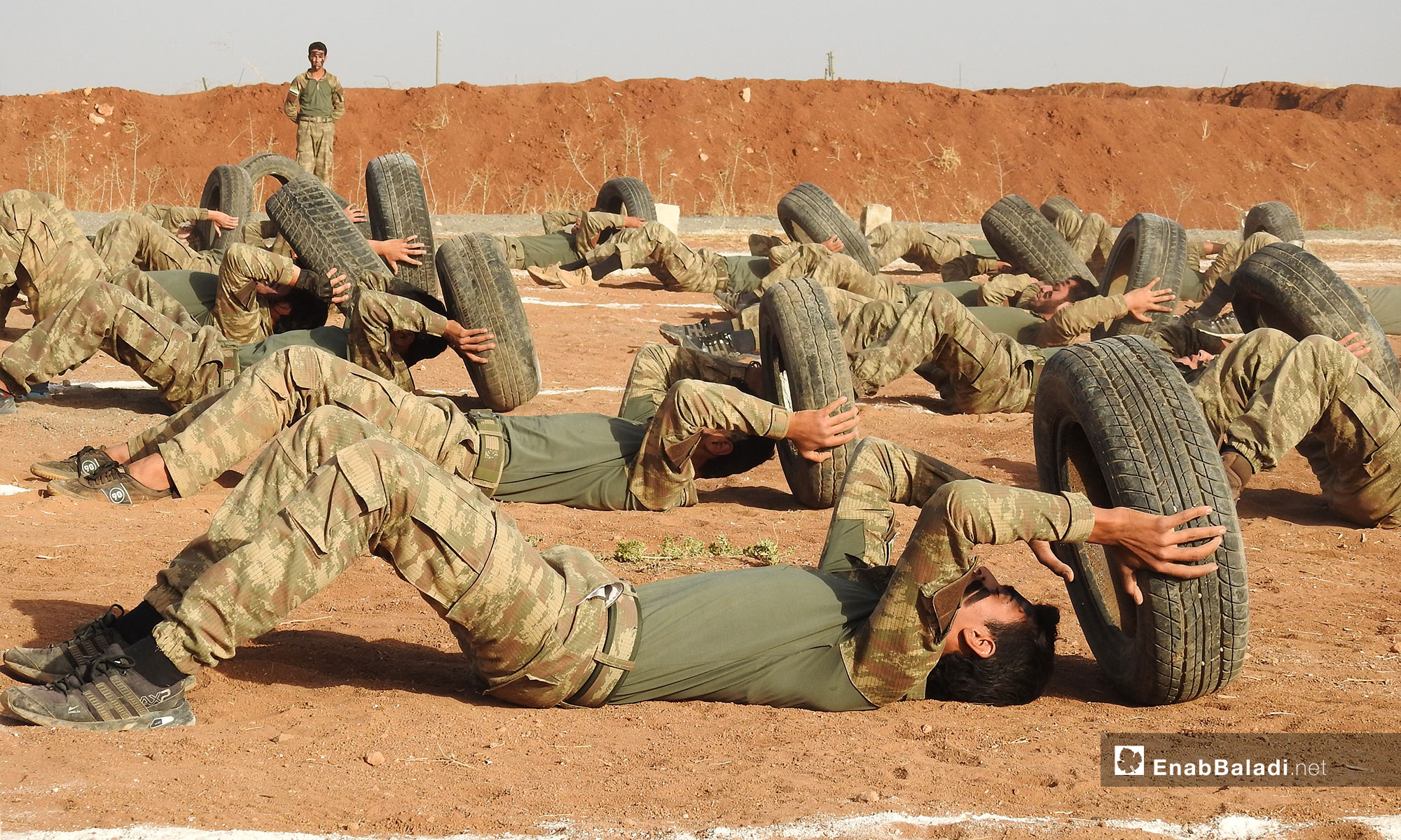 Graduation ceremony of a new batch of the Syrian National Army in the northern countryside of Aleppo –October 14, 2018 (Enab Baladi)