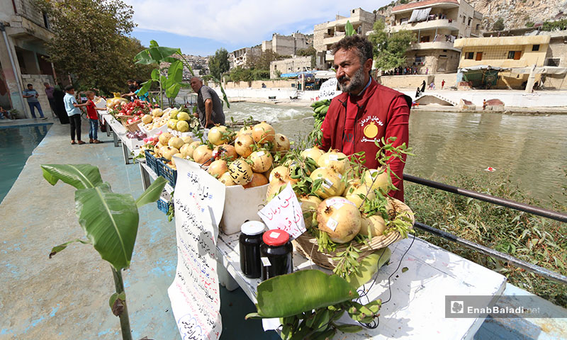The second year of the annual Pomegranate Festival in the city of Darkush, Idlib – October 10, 2019 (Enab Baladi)