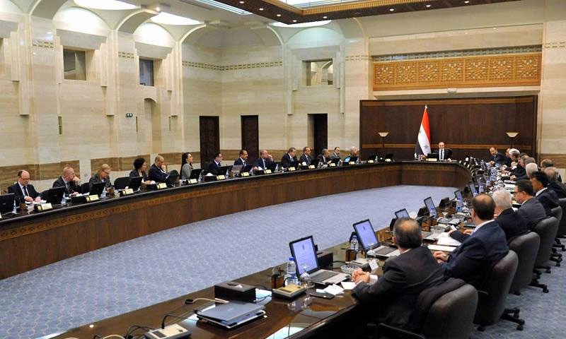 The head of the Syrian regime's government meeting the ministers for the weekly session – September 29, 20199 (Official page of the Presidency of the Council of Ministers)