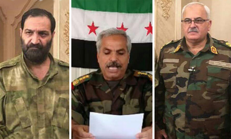 The commanders of the National Army in northern rural Aleppo and Idlib (Designed by Enab Baladi)