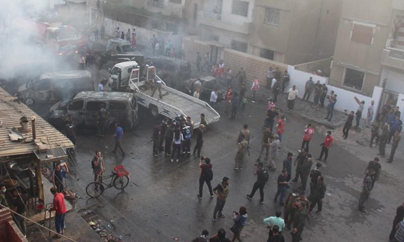 A car bomb blast in the western neighborhood of Qamishli - 2019 (Buyer- Kurdish website)