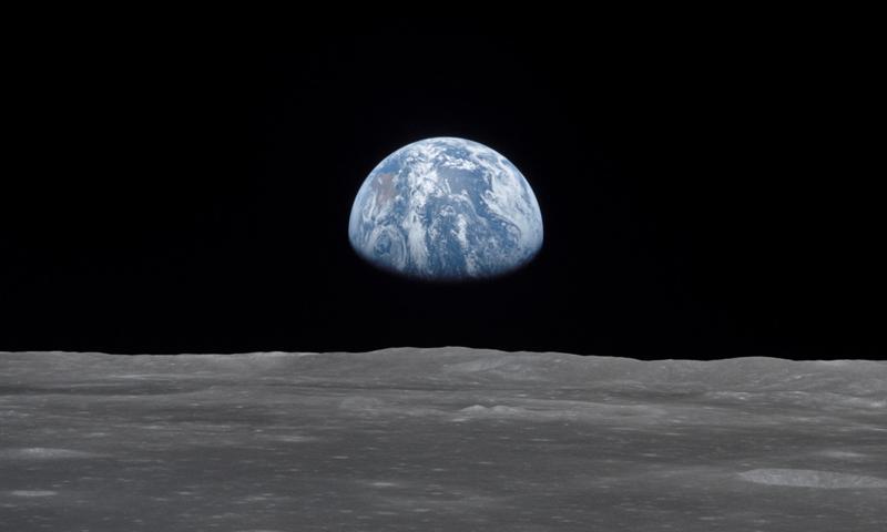 Earth from the Moon- July 20, 1969 (NASA)