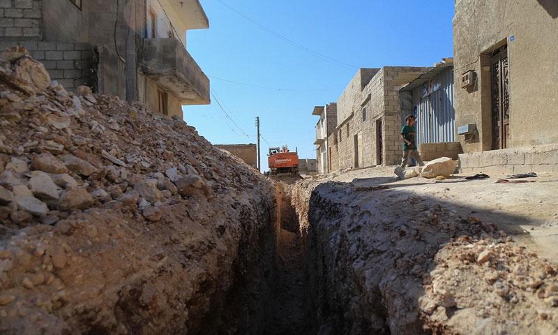 Excavation in Al-Bab, Aleppo, 10 October 2019 (Al-Bab's local council)