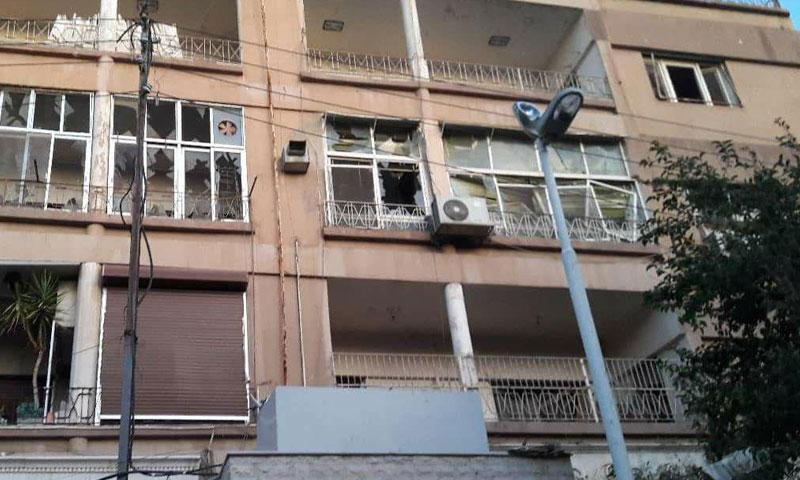 The Islamic Jihad Palestinian leader's house targeted by Israeli airstrikes in Syria on 12 November 2019. (SANA)